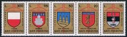 Saint-Marin - IXe Tournoi De L'arbalète (armoiries Des Villes Participant Au Tournoi) 876/880 ** - San Marino