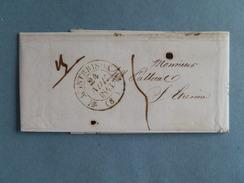 MARQUE POSTALE DE MONTBRISON A ST ETIENNE DU 24 NOVEMBRE 1843