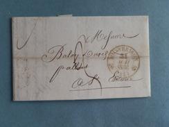 MARQUE POSTALE DE MONTBRISON A ST ETIENNE DU 21 MAI 1836