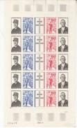 France De Gaulle N°1698a  Planche De 5 Exemplaires - Blocs & Feuillets