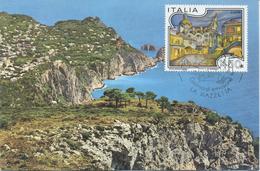 ITALIA - FDC MAXIMUM CARD 1986 - TURISTICA - CAPRI  - ANNULLO SPECIALE - Cartoline Maximum