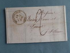MARQUE POSTALE DE MONTBRISON A ST ETIENNE DU 12 JANVIER 1836