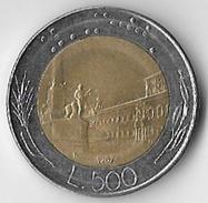 Italy 1987 500 Lire [C436/1D] - 1946-… : Republic