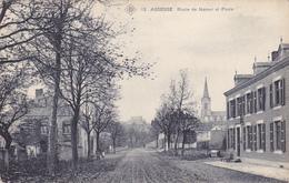 Assesse  Route De Namur Et La Poste  Circulé En 1908 - Assesse