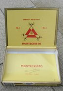 TABAC  )    BOITE  A  CIGARES  -   MONTECRISTO N°3 - HABANA CUBA - Zigarrenetuis