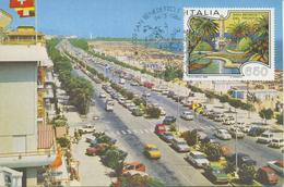 ITALIA - FDC MAXIMUM CARD 1986 - TURISTICA - SAN BENEDETTO DEL TRONTO  - ANNULLO SPECIALE - Cartoline Maximum