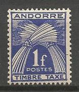 ANDORRE TAXE N° 24 NEUF**  SANS CHARNIERE / MNH