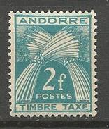 ANDORRE TAXE N° 26 NEUF** LUXE  SANS CHARNIERE / MNH