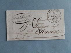 MARQUE POSTALE DE ROANNE A ST ETIENNE DU 5 OCTOBRE 1839