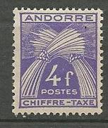 ANDORRE TAXE N° 28 NEUF** LUXE  SANS CHARNIERE / MNH
