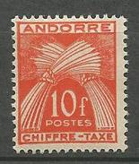 ANDORRE TAXE N° 30 NEUF** LUXE  SANS CHARNIERE / MNH