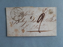 MARQUE POSTALE DE ST CHAMOND A ST ETIENNE DU 27 JUIN 1837