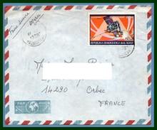Madagascar Lettre 1988 >  France Espace Cométe De Halley Space