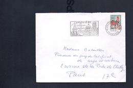 "Flamme  16 Angouleme Gare   "" Angouleme Sa Cathedrale Ses Remparts  Son Hotel De Ville"""