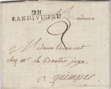 11 AVRIL 1820  FINISTERE   28/LANDIVISIAU  POUR QUIMPER