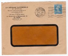 Timbre Perforé G D Sur Enveloppe La Défense Automobile Et Sportive Le Mans 1925
