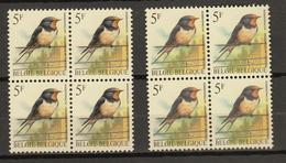 Belgie - Belgique : Ocb Nr:  2475 ** MNH  (zie  Scan )  Beide Soorten Ocb - 1985-.. Vögel (Buzin)