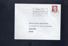 """Flamme 88  Saint Dié   """" Grandes Fetes Du  Jumelage Franco-Belge Saint Dié Arlon 14 16 Juillet 1961"""""""