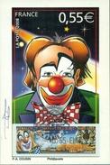 FRANCE CARTE MAXIMUM Timbre Distributeur LE CLOWN  Et Cirque 2008 Ttb - 2000-09