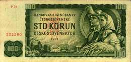 TCHECOSLOVAQUIE 100 KORUN De 1961  Pick 91b - Tchécoslovaquie