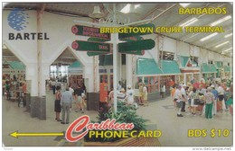 Barbados, BAR-216C, Bridgetown Cruise Terminal,  2 Scans.   216CBDC