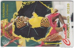 Antigua, ANT-181F, 40 Years Carnival, Vitus Mas Troupe 1993, 2 Scans.  181CATF - Antigua Y Barbuda