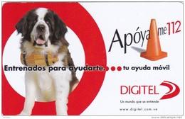 Venezuela, VE-DGT-PRE-006-07, Apoyame 112, Dog, 2 Scans. - Venezuela