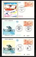 1985 - Lot De 3 Enveloppes Premier Jour (FDC) - Hydravion CAMS 53 - Marseille - FDC