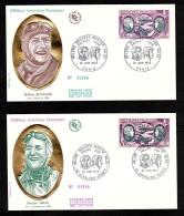 1972 - Enveloppes Premier Jour (FDC) - Hélène Boucher Et Maryse Hilsz - Oblitérations à Paris Et Levallois-Perret - 1970-1979