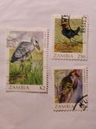 ZAMBIE 1987-88  LOT# 3  BIRDS - Zambie (1965-...)