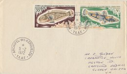 T.A.A.F. 1972 FDC With Fish. - FDC