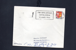 """Flamme  68   """" 7eme Feye Locale Wittelsheim 13 Mars 1966"""""""