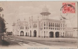 CPA MALAISIE MALAYSIA MALAY Kuala Lumpur Station Hôtel Timbre Stamp 1918 - Malaysia