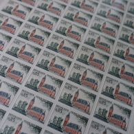 FEUILLE SHEET TIMBRE CALAIS N°1316 X50 1961 NEUF ** LUXE MNH - Francia