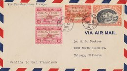 PHILIPPINES 1935 First Flight Cover From MANILLA To SAN FRANCISCO. - Filippijnen
