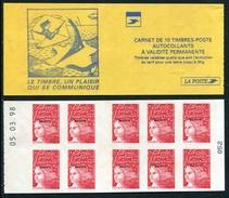 """Carnet De 1998 De 10 Timbres """"type Luquet/LA POSTE Surchargé"""" Avec Couvert. Jaune """"Le Timbre, ....."""" Et Date 05.03.98 - Sin Clasificación"""