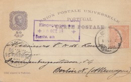 Portugal: 1908: Abrantes Nach Berlin - Portugal