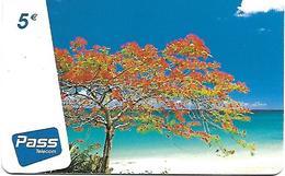 @+ Prépayée Outremer Telecom Des Antilles Francaises - Flamboyant - 5€ - 120 000ex - Antilles (Françaises)