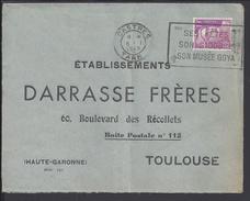 FR - 1949 - Gandon 10 F Seul Sur Enveloppe De Castres Pour Toulouse, Affranchi à L'ancien Tarif - Complaisance - B/TB -