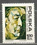 POLAND MNH ** 2199 Pablo Neruda Poète Auteur écrivain Littérature