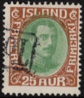 ~~~ Islande Iceland  1931  -  Christian X - Mi. 162 (o) ~~~ - 1918-1944 Unabhängige Verwaltung