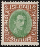 ~~~ Islande Iceland  1931  -  Christian X - Mi. 162 * MH - CV 55.00 Euro ~~~ - Nuovi