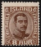 ~~~ Islande Iceland  1920  -  Christian X - Mi. 88 * MH - CV 26.00 Euro ~~~ - Nuovi
