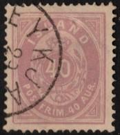 ~~~ Islande Iceland  1882  - Coat Of Arms Perf 14x13½  - Mi. 15 A (o) - CV 40.00 Euro ~~~ - 1873-1918 Dépendance Danoise