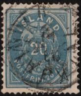 ~~~ Islande Iceland  1882  - Coat Of Arms Perf 14x13½  - Mi. 14 A (o) - CV 45.00 Euro ~~~ - 1873-1918 Dépendance Danoise