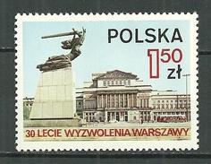 POLAND MNH ** 2200 Anniversaire De La Libération De Varsovie Monumetde Nike Et Le Grand Théâtre De L'Opéra