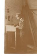CALGARY, Alberta, Canada, William Frazer At Desk In B & K Mill, Calgary, Summer 1908 RPPC - Calgary