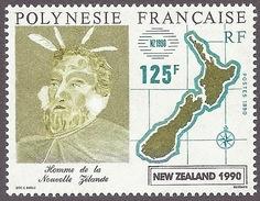 France Polynesie - Polynesia 1990 - Maori Culture, Map New Zealand MNH - Polynésie Française