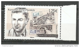 EUROPA- ANDORRA CORREO FRANCES 1  SELLO DEL 2015 * (C.H.C11.15) - Used Stamps