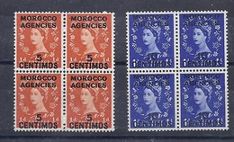170027309  MARRUECOS  G.B. .YVERT    Nº  87/8  **/MNH - Oficinas En  Marruecos / Tanger : (...-1958